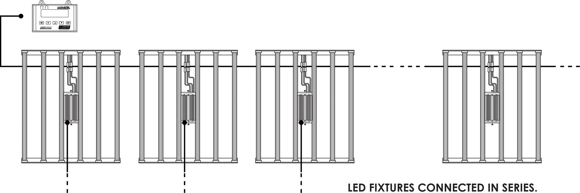 Schaltbild Leuchten in Reihe